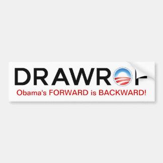 DRAWROF Barack Obama's FORWARD is BACKWARD Sticker
