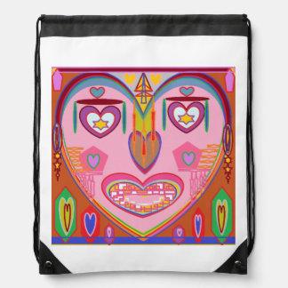 Drawstring Backpack:  ART by NAVIN JOSHI Drawstring Backpack