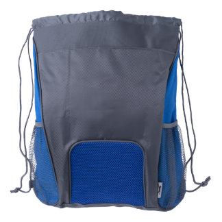 Drawstring Backpack, Blue/Gray Drawstring Backpack