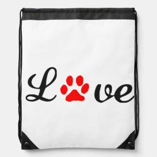 Drawstring Backpack love pets