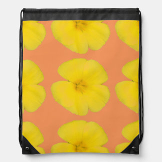 Drawstring Backpack - West Indian Holly