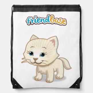 Drawstring bag cat logo