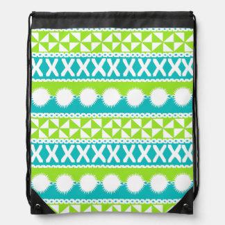 Drawstring Bag with Ethnic Masi Print