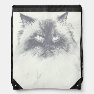 Drawstring Himalayan Cat Backpack