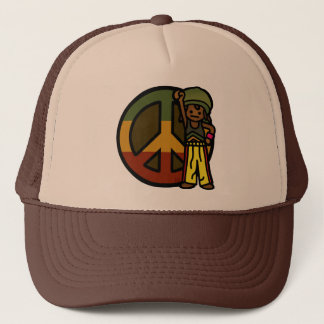 dread head. trucker hat