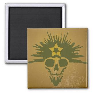 Dreadhead (Dark Green) Fridge Magnets