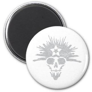 Dreadhead (light grey, distressed) refrigerator magnet