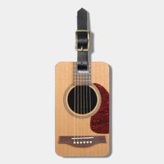 Dreadnought Acoustic six string Guitar Luggage Tag