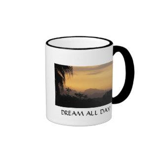 Dream All Day Ringer Mug