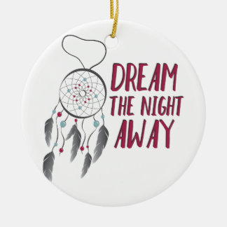 Dream Away Round Ceramic Decoration