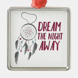 Dream Away Silver-Colored Square Decoration
