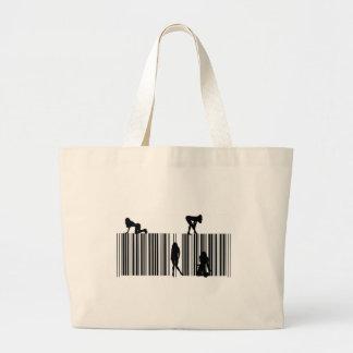 Dream Bar Code Tote Bags