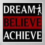 Dream Believe Achieve Baseball Print