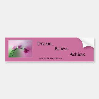 Dream, Believe, Achieve Car Bumper Sticker