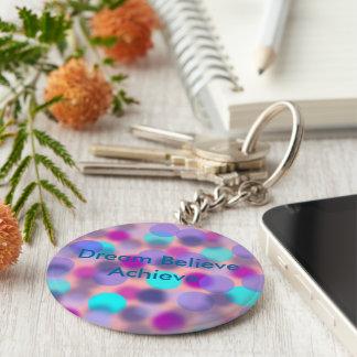 Dream believe Achieve keychain(Green) Key Ring