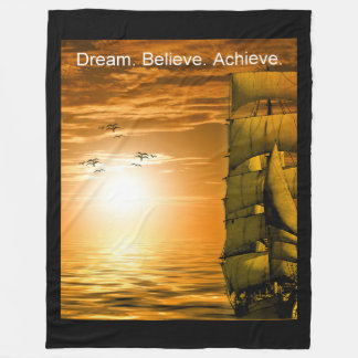 dream believe achieve motivation inspiration fleece blanket