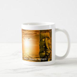 dream believe achieve motivational quote coffee mug