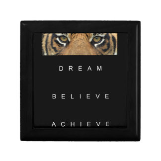 dream believe achieve motivational quote gift box