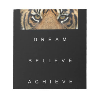 dream believe achieve motivational quote notepad