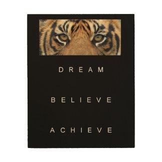 dream believe achieve motivational quote wood wall art