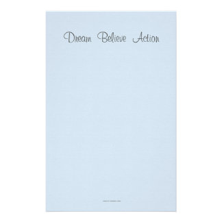 Dream  Believe  Action Stationery