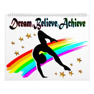 DREAM, BELIEVE, AND ACHIEVE GYMNASTICS CALENDAR