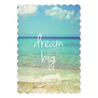 Dream big 13 cm x 18 cm invitation card