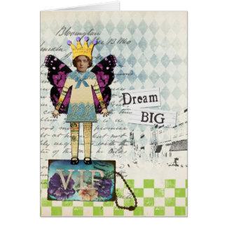 Dream Big Altered Art Vintage Collage Card