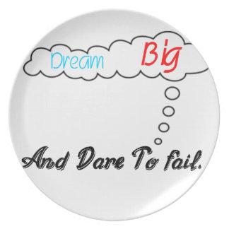 Dream Big And Dare To Fail. Plate