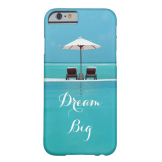 Dream Big Beautiful Blue Sky and Beach Themed Barely There iPhone 6 Case