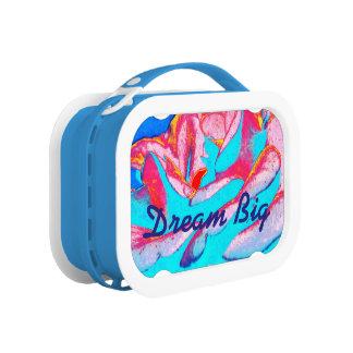 Dream Big Blue floral lunchbox