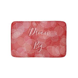 Dream Big. Bokeh red texture Bath Mat