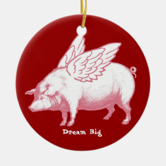 Dream Big Ceramic Ornament