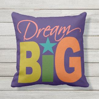 Dream BIG custom color throw pillow