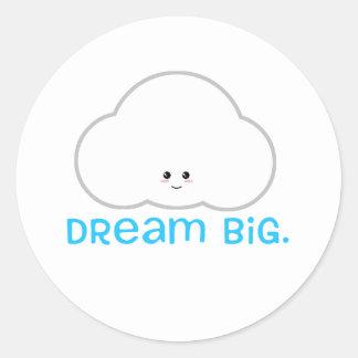 Dream Big Cute Kawaii Sticker Cloud