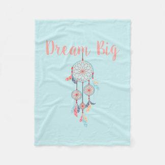 Dream Big Dreamcatcher Bohemian Dream Catcher Fleece Blanket