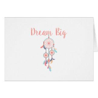 Dream Big Dreamcatcher Dream Catcher in Peach Card