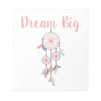 Dream-Big-Dreamcatcher-peach Notepad