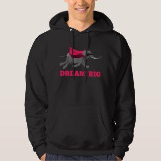 Dream big Flying Elephant Hoodie