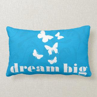 Dream Big Free Butterflies Inspirational Lumbar Cushion