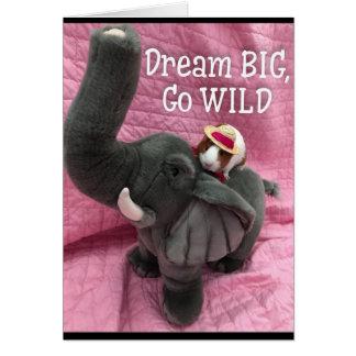 Dream big guinea pig card