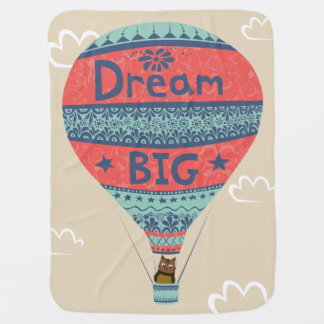 Dream big hot air balloon Indian style decorations Buggy Blanket