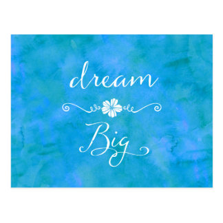 Dream Big Inspirational Happiness Quote Postcard