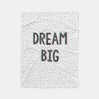 Dream Big Inspirational Quote Fleece Throw