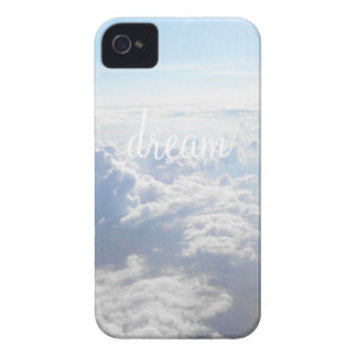 Dream big inspirational quote motivational clouds iPhone 4 Case-Mate cases
