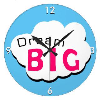 Dream BIG Large Clock
