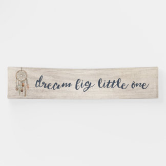 Dream Big Little One Birthday Party Banner
