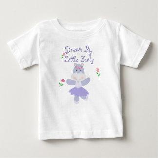 Dream Big little one Purple Hippo Ballerina Baby T-Shirt