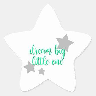 dream big little one simple modern baby star sticker