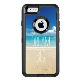 Dream Big Motivational Quote Beach Theme OtterBox Defender iPhone Case